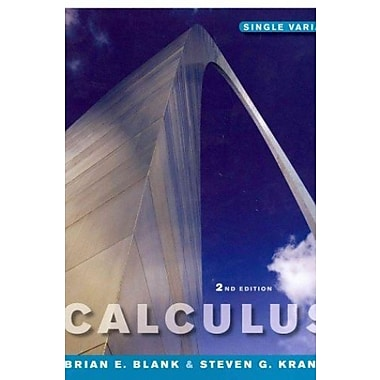 Calculus: Single Variable 2nd Edition (Chs 1-8) and WileyPLUS Combo Set, New Book (9781118135778)