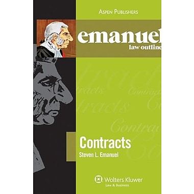 Emanuel Law Outlines: Contracts, New Book (9780735589933)