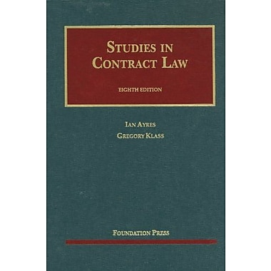 Studies in Contract Law (University Casebook Series), Used Book (9781609301170)