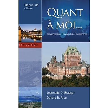 Manuel de Preparation for Quant a Moi, 5th Edition, New Book (9781111836344)
