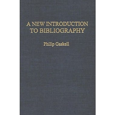 A New Introduction to Bibliography, New Book (9781584560364)