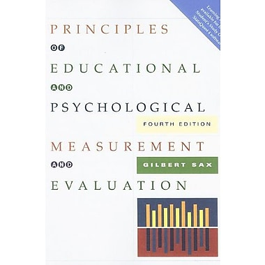 Principles of Educational and Psychological Measurement and Evaluation, Used Book (9781111305543)