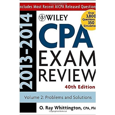 Wiley CPA Examination Review 2013-2014, Problems and Solutions (Volume 2), New Book (9781118583869)