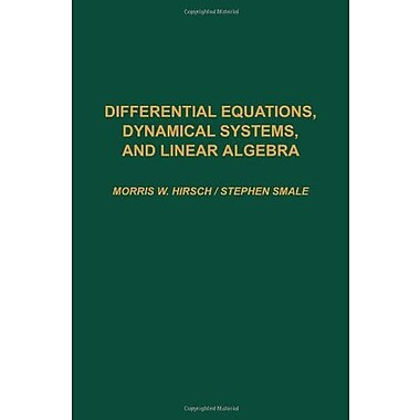 Differential Equations, Dynamical Systems, & Linear Algebra, Used Book (9780123495501)