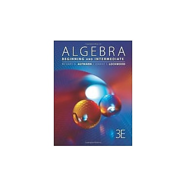 Algebra: Beginning and Intermediate (Textbooks Available with Cengage Youbook), New Book (9781111579500)