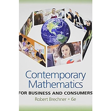 Bundle: Contemporary Mathematics for Business & Consumers, New Book (9781133073093)