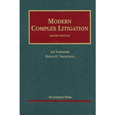 Tidmarsh and Trangsrud's Modern Complex Litigation, 2d (University Casebook Series), Used Book (9781587785375)