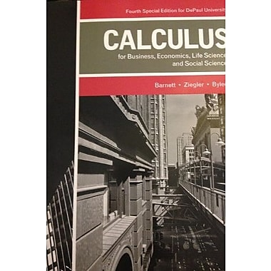 Calculus for Business, Economics, Life Sciences, and Social Sciences (4th Edition), New Book (9781256805014)