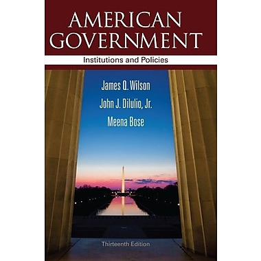 American Government: Institutions and Policies, New Book (9781111830076)