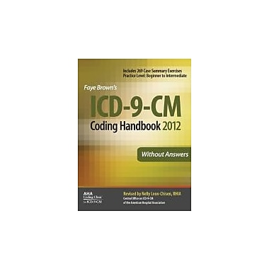ICD-9-CM Coding Handbook, Without Answers, New Book (9781556483813)
