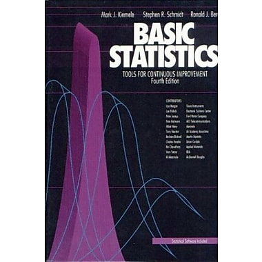 Basic Statistics: Tools for Continuous Improvement 4th Edition, New Book (9781880156063)