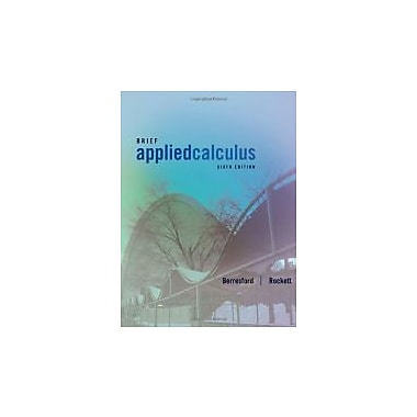 Applied Calculus, Brief, Used Book (9781133103929)