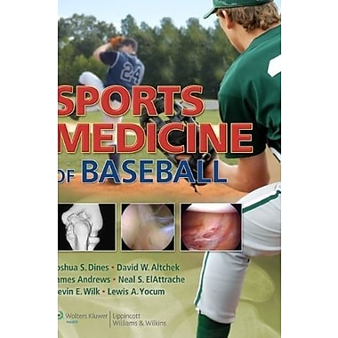 Sports Medicine of Baseball, New Book (9781605477442)