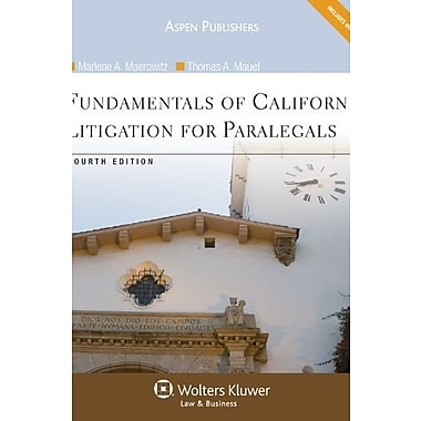 Fundamentals of California Litigation for Paralegals, Fourth Edition, New Book (9780735587298)