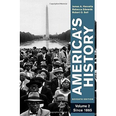America's History, Volume 2: Since 1865, Used Book (9780312387921)