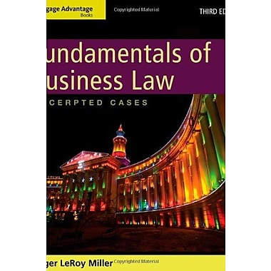 Cengage Advantage Books: Fundamentals of Business Law: Excerpted Cases, Used Book (9781133187806)
