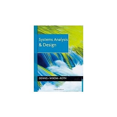 Systems Analysis and Design, New Book (9781118057629)