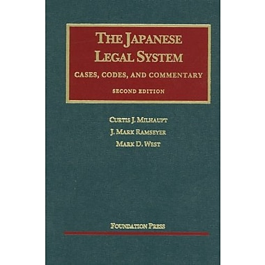 Milhaupt, Ramseyer, and West's The Japanese Legal System, 2d (University Casebook Series), New Book (9781609300296)