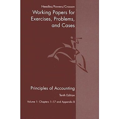 Principles Of Accounting & Principles Of Financial Accounting Working Papers Vol. One Tenth Edition, Used Book (9780618736430)
