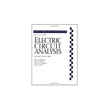 Electric Circuit Analysis, Student Problem Set with Solutions, New Book (9780471367246)