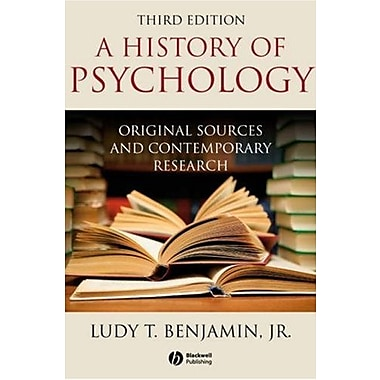 History of Psychology:Original Sources and Contemporary Research 3e, New Book (9781405177115)