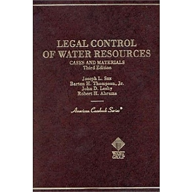 Legal Control of Water Resources: Cases and Materials (American Casebook), Used Book (9780314237361)
