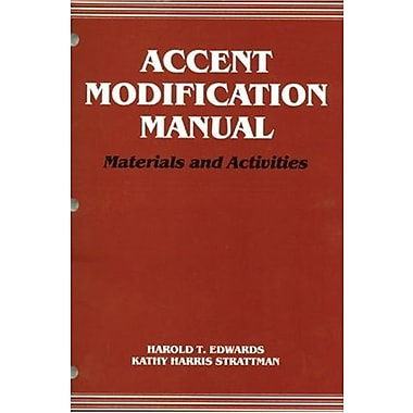 Accent Modification Manual: Materials and Activities, New Book (9781565934528)