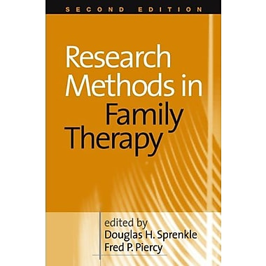 Research Methods in Family Therapy, Second Edition, New Book (9781572309609)