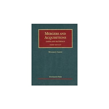 Carney's Mergers and Acquisitions, Cases and Materials, 3d, New Book (9781599419275)