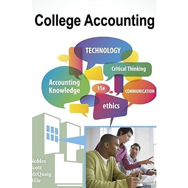 Working Papers with Study Guide, Chp. 13-24 for Nobles/Scott/McQuaig/Bille's College Accounting, Used Book (9781111530204)