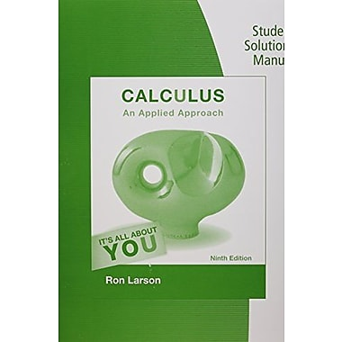 Student Solutions Manual for Larson's Calculus: An Applied Approach, 9th, New Book (9781133112792)