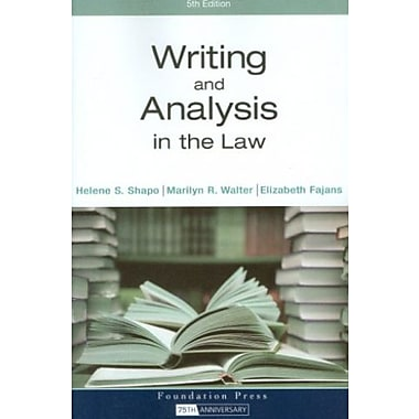 Writing and Analysis in the Law, New Book (9781599414249)