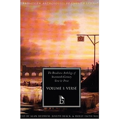 The Broadview Anthology of Seventeenth-Century Verse & Prose, Vol. 1: Verse, New Book (9781551114620)