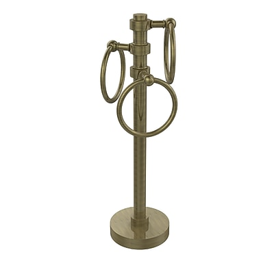 Allied Brass Waverly Place 3 Swing Ring Countertop Towel Stand; Satin Nickel