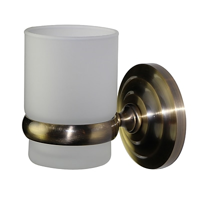 Allied Brass Universal Wall Mount Tumbler Holder; Polished Brass