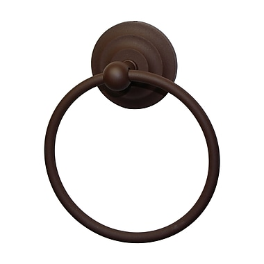 Allied Brass Que New Wall Mounted Single Towel Ring; Satin Nickel