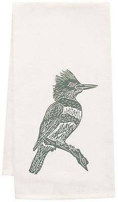 Artgoodies Organic Kingfisher Block Print Tea Towel