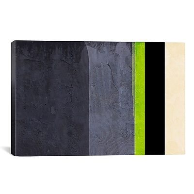iCanvas 'Honeydew Slate Striped' Graphic Art on Canvas; 18'' H x 26'' W x 0.75'' D