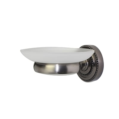 Allied Brass Dottingham Wall Mount Soap Dish; Polished Nickel