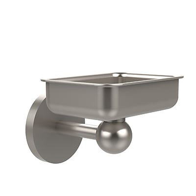 Allied Brass Skyline Soap Dish; Satin Nickel