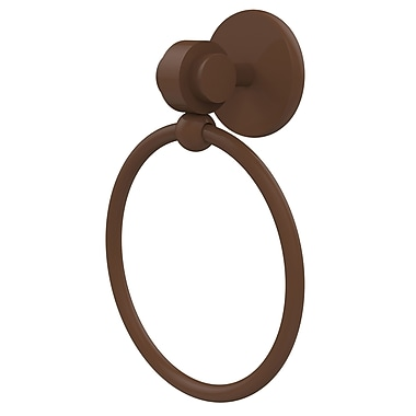 Allied Brass Universal Wall Mounted Single Towel Ring; Antique Bronze