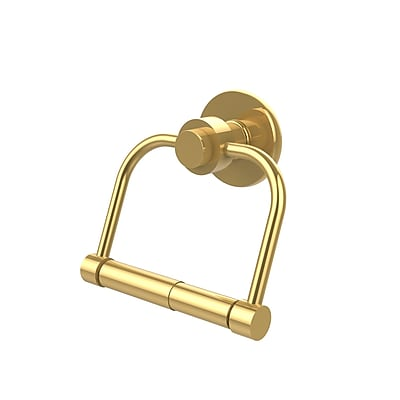 Allied Brass Universal Place Wall Mounted Double Post Tissue Holder; Polished Brass