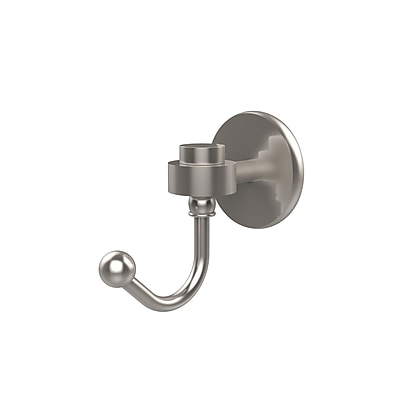 Allied Brass Satellite Orbit One Wall Mounted Robe Hook; Satin Nickel