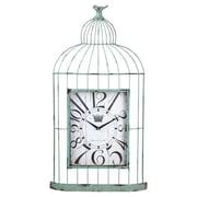 Cape Craftsmen Metal and Wood Bird Cage Clock