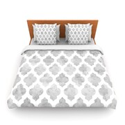 KESS InHouse Gray Moroccan by Amanda Lane Woven Duvet Cover; Twin