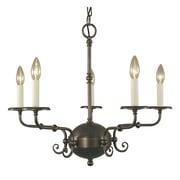 Framburg Jamestown 5-Light Candle-Style Chandelier; Siena Bronze
