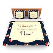 KESS InHouse I Know by Robin Dickinson Woven Duvet Cover; Twin