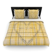 KESS InHouse You and Me by Robin Dickinson Woven Duvet Cover; King/California King