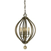 Framburg Dewdrop 4-Light Foyer Pendant; Mahogany Bronze