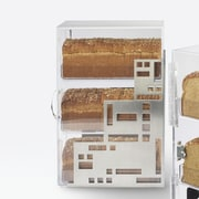 Cal-Mil Squared Bread Box; Stainless Steel